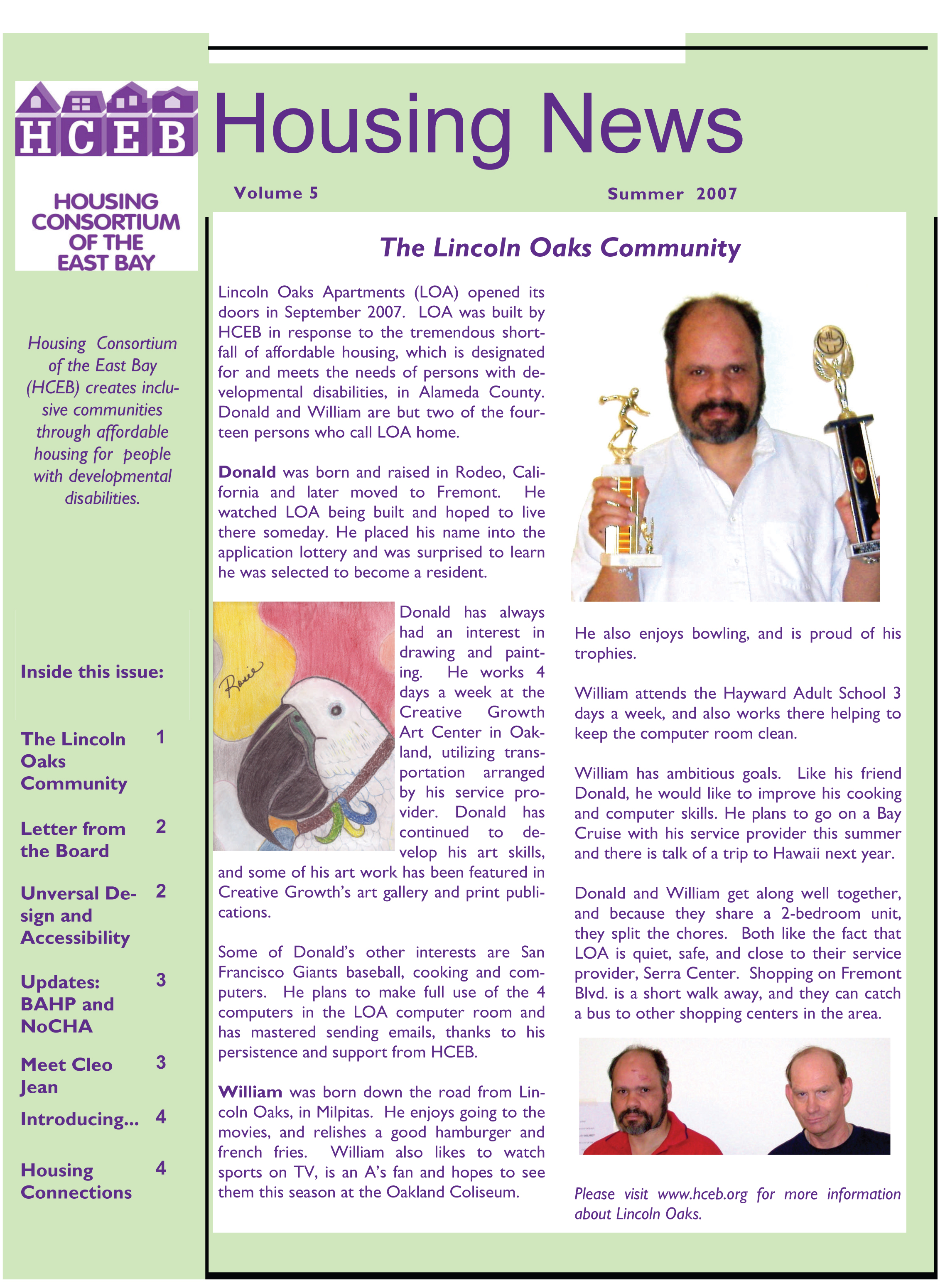 Summer 2007 Newsletter