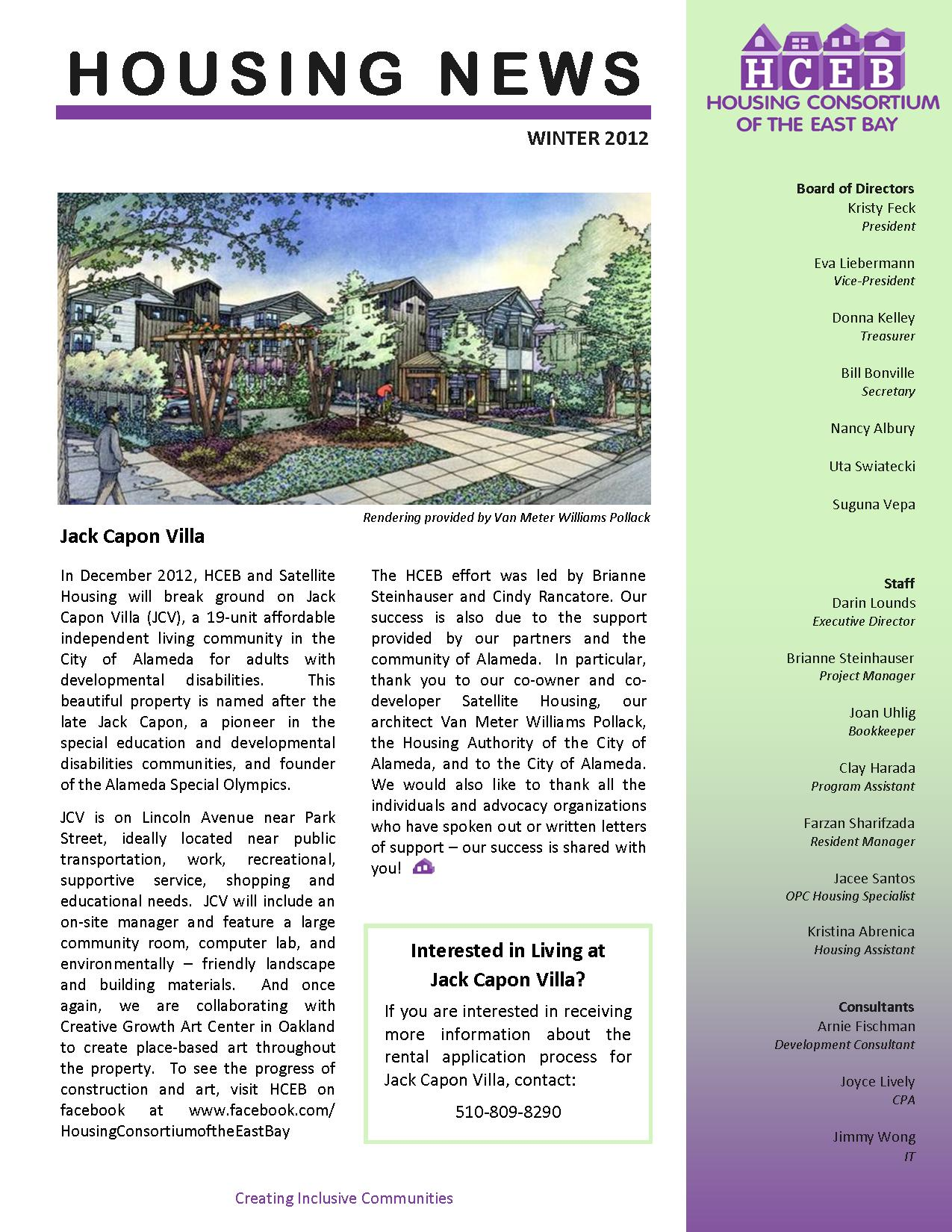 2012 Newsletter from Publisher